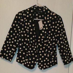 Black/Cream Career Jacket